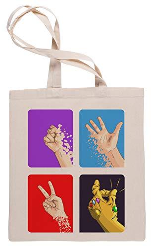 Wigoro Rock, Papier, Schere, SNAP !!! - Bosslogic Einkaufstasche Tote Beige Shopping Bag