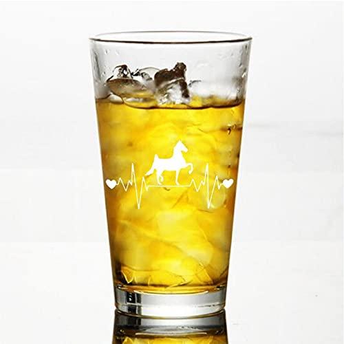 American Saddlebred Horse Lifeline - Copa de vino sin tallo, vaso de whisky grabado, perfecto para padre, mamá, niño o amiga
