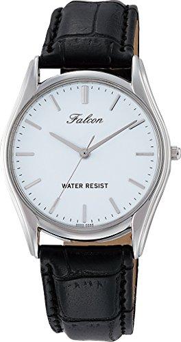 [シチズン Q&Q] 腕時計 アナログ 防水 革ベルト QA00-301 メンズ ブラック
