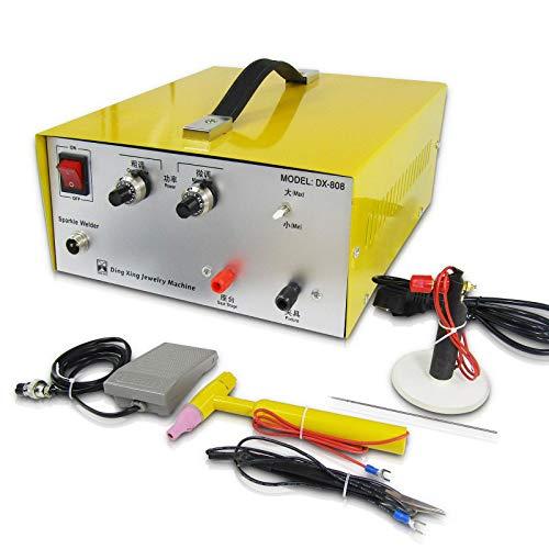 MXBAOHENG Máquina de Soldadura por Puntos de Joyería DX-80A 400W Soldador Laser Joyeria Joyería Soldadora por Puntos 0.6mm-2.5mm 220V Soldador de Puntos Joyería