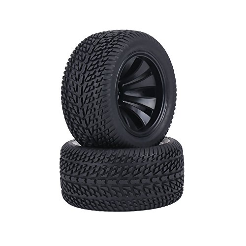 Dilwe rc Reifen 1:12 onroad Reifen, aus superweichem Biogummi & Kunststoff für starken horizontalen und vertikalen Grip, Naben Rad für 1:12 RC Auto On-Road Rennwagen