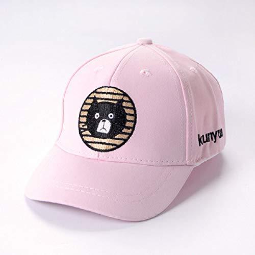 mlpnko Babymütze 1-3 Jahre alt Kindermütze Baseballmütze Jungen und Mädchen Visier Bär rosa 48-50CM (1-3 Jahre alt)