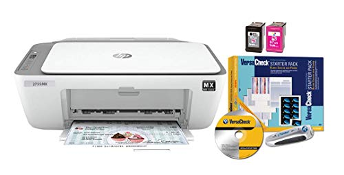 VersaCheck HP DeskJet 2755 MX MICR Check Printer and VersaCheck Presto Check Printing Software Bundle, White (2755MX)