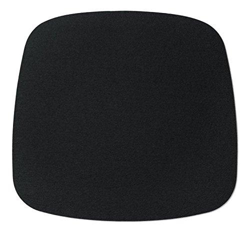 Hey Sign Eames Plastic Armchair Sitzauflage, Schurwolle, Schwarz 02AR, 37x35x0,5 cm