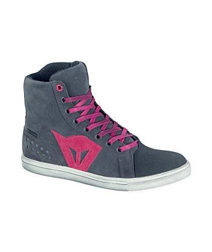 Dainese-STREET BIKER LADY D-WP Zapatos, Antracite/Fuchsia, Talla 39