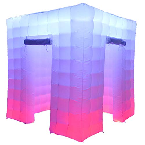 SAYOK Inflatable Photo Booth Enclosure(8.2x8.2x8.2ft) with Inner Air Blower and Remote Controller  Photo Booth Backdrop for Event Weddings Photo Booth Company  Two Doors