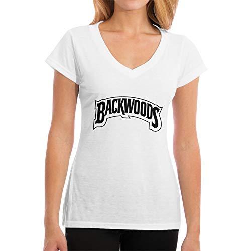 Faithe Keppel Bac-Kwoods señoras sexy cuello en V 100% algodón slim fit camiseta