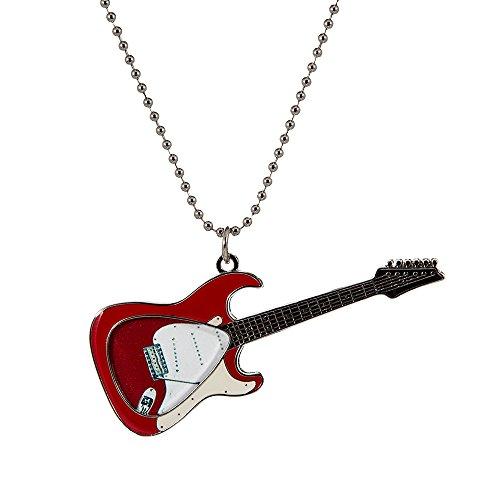 PickWorld Pick-Lace PLC-RSTR Guitar Pick Holder Necklace/Key Ring, Red Electric