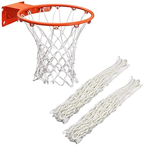 Xchmtech Red de baloncesto de repuesto para baloncesto estándar de 12 bucles, color blanco, para interior y exterior