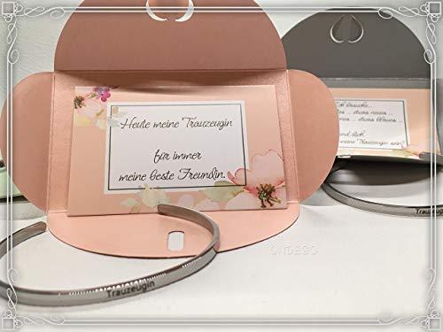 Armreif Rosa Trauzeugin Strass Dezent Brautjungfer Geschenk fragen Hochzeit Brautschmuck Armband Ondego Gold Silber Rot Mintgrün Blau Rosa