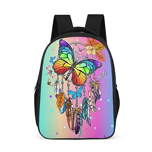 Robusto atrapasueños mariposa arco iris niños mochila ajustable hombro - mochila de viaje para niños
