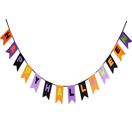 MOIX Halloween Deko Halloween Dekoration ziehen Flagge Filz Stoff hängen Flagge Einkaufszentrum Bar Ktv Ghost Festival Atmosphäre Szene Layout ziehen Flagge