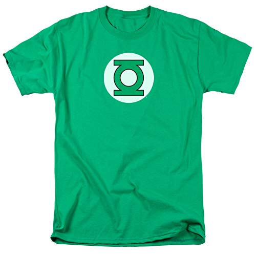 Green Lantern Logo Officially Licensed T-Shirt & Stickers (Large)