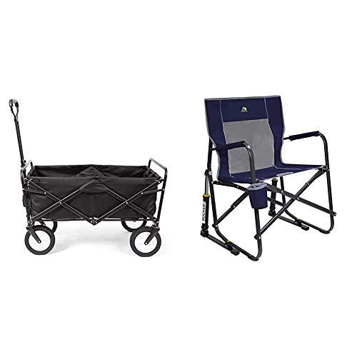 Mac Sports Mac Wagon (WTC-145) Black & GCI Outdoor Freestyle Rocker Portable Folding Rocking Chair, Indigo