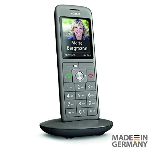 Gigaset CL660HX Universal-Mobilteil – Schnurloses IP-/Design Telefon (zum Anschluss an Basisstationen oder Router – mit großem Display und brillanter Sprachqualität) anthrazit-metallic