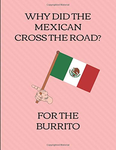 Why Did The Mexican Cross The Road? For The Burrito: Five Year Calendar Planner 2019 - 2023 [Idioma Inglés]
