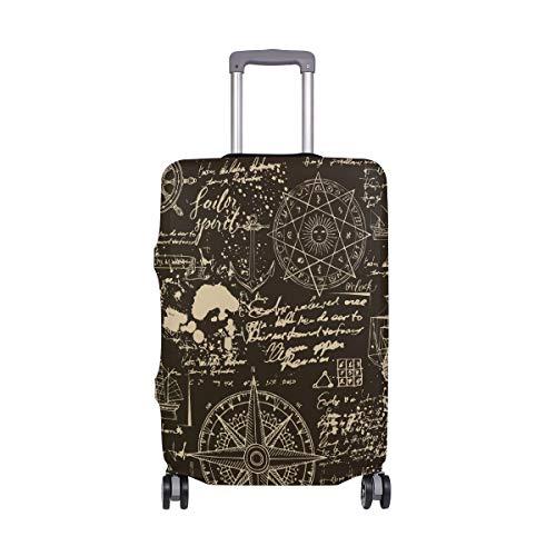 Protector de maleta de poliéster elástico con diseño de brújula náutico para equipaje de 45 a 20 pulgadas Multicolor multicolor 29-32 inches