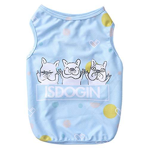 balacoo Dog Summer Vest Dog Adorable Cooling Vest Dog Summer Cool Clothes for Pet Bulldog Dog Puppy (Size L)
