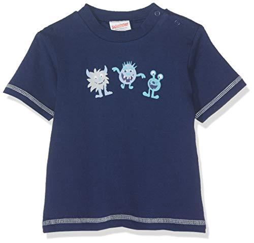 Schnizler T- Shirt Interlock Kleine Monster, Bleu Marine 1(1), 3 Mois Bébé Fille