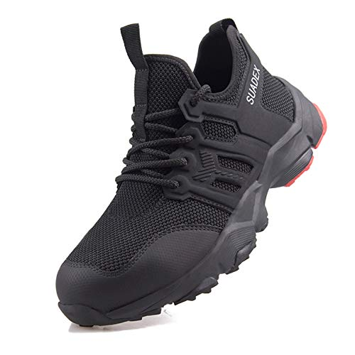 SUADEX Safety Shoes for Men Composite Steel Toe Sneaker Indestructible Work Shoes Breathable Lightweight