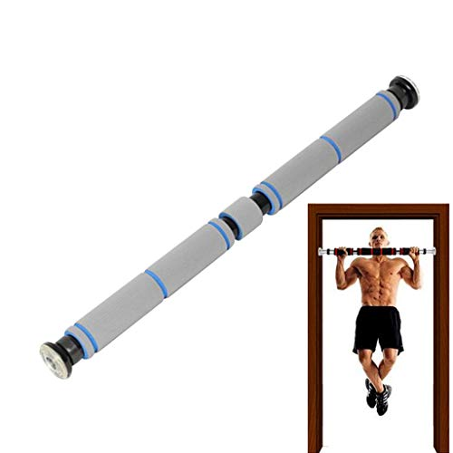 ZLQ Doorway Pull Up Bar, Strength Training Pull-up Bars, Adjustable Horizontal Bar, Kids Training Bars, 60-100cm/23-39inch, Maximum Load 225kg/496lbs (Color : Gray, Size : 60-100cm)