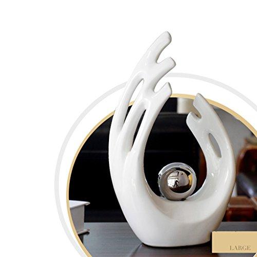 PEILIAN Artesanía vinoteca Decoraciones para el hogar Adornos de cerámica salón Muebles Minimalistas Modernos para el hogar (Color : White/Large)