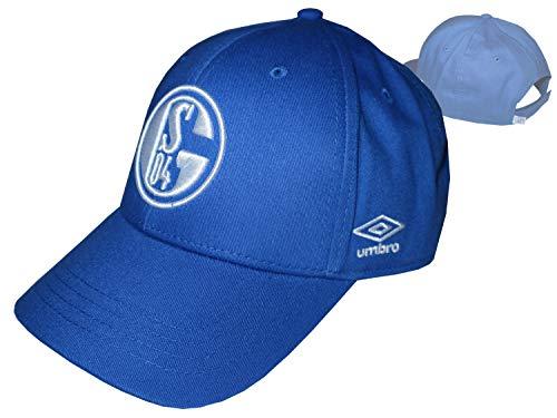Umbro FC Schalke 04 Königsblau Cap S04 Fan Basecap Fußball Kappe Mütze Knappen, Größe:OSFA (Adult)