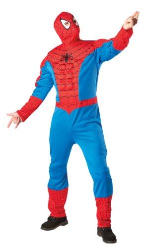 Rubies Spiderman adulte avec torse et cagoule - XL