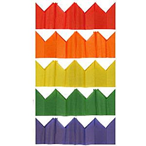 Fancy Me Bulk Pack 100 Multi Coloured Christmas Cracker Party Hats Crowns School Nursery Work Party Celebration