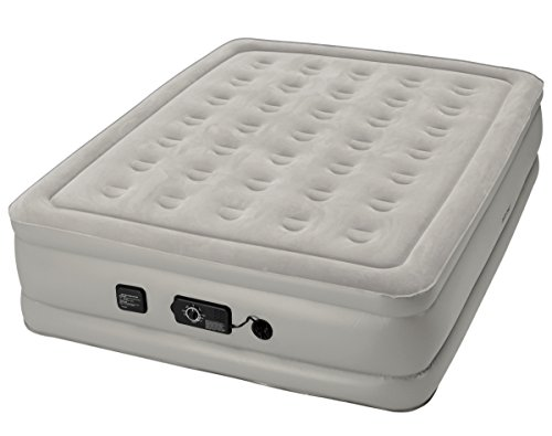 Insta-Bed Queen Air Mattress with Never Flat Pump - White