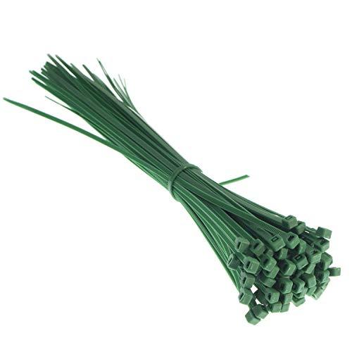 CW Handel - Premium-Kabelbinder in grün (100 Stück, 300mm x 3,6mm), UV-, Hitze- und Kälteresistent