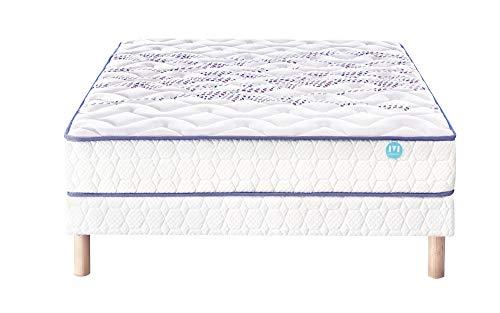 Ensemble Matelas ressorts Merinos MIMIC Confort Morphologique 26,5 cm 120x190