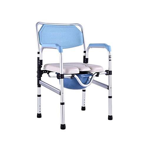 Fantastic Deal! ZWJ-Shower Chair Folding Commode Chair Portable Bath Chair Aluminum Frame Maximum Sa...