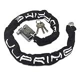 JJOnlineStore–Lucchetto a catena nero robusto, 90cm, per moto e bici, protezione sicura
