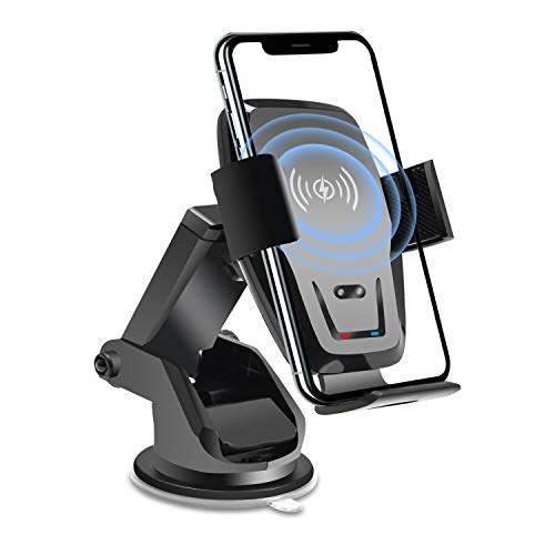 Wireless Car Charger Mount Auto Clamping Qi 10W 75W Fast Charging Car Phone Holder Air Vent Mount Charger for iPhoneiPhone 11/11Pro/11ProMax/XSMax/XS/X/8/8 Samsung S20/S10/S9 Note 20/10