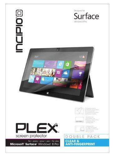 Incipio Technologies CL-487 Plex Set di pellicole protettive per display Ulta Clear anti-impronte (Pacco da 2) per Microsoft Surface Pro/Pro 2 trasparente