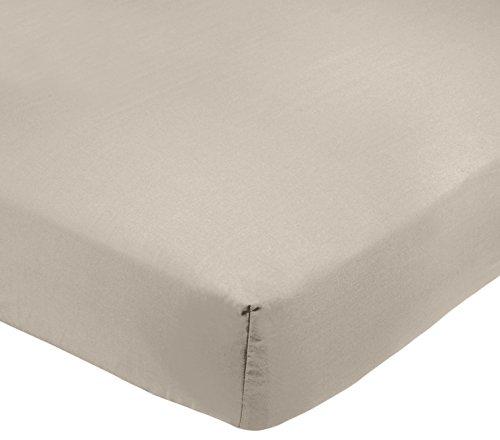 AmazonBasics - Sábana bajera ajustable (polialgodón 200 hilos) Gris - 90 x...