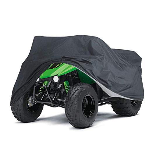 STTC Telo Copri Moto ATV, 190T Impermeabile Poliestere Antipolvere Sun Antivento Telo Coprimoto Quad ATV Universale Outdoor Copertura,XXL