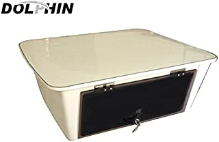 Dolphin T Tops Overhead Marine Electronics E Box ✮ Fishing Boat Tower Center Console Ebox, Fiberglass, Locking Smoked Glass, Stereo Radio Head Storage, Water Resistant, 25