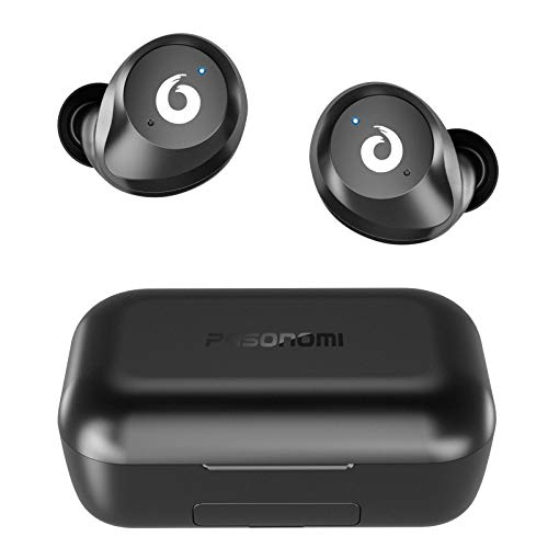 Wireless Earbuds TWS Bluetooth Earbuds Stereo Bluetooth 5.0 Headphones Sports IPX7 Waterproof Wireless Earphones with 2200mah Charging Case/Box, Built-in Mic