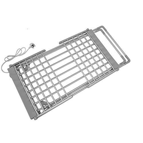 LIABC Toallero Eléctrico Calentado, Secador De Toallas Plegable, Tendedero De Aluminio para Piso 950x500x740mm