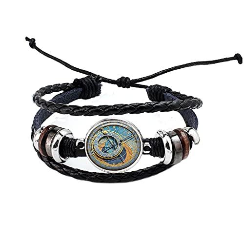 Bracelet montre astronomique Prague, bracelet d'horloge, bijoux steampunk astrologie, bracelet simple, N324