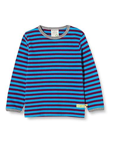loud + proud Kinder-Unisex Ringel T-Shirt, Plum/Aqua, 98/104