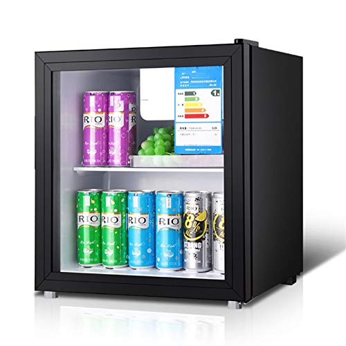 QIU Mini-Kühlschrank schwarz 50l Bier, Wein & Getränke Kühlschrank, Niedrige Energie A + (schwarz), leise energieeffizient und toll für angebrachte Küchen.