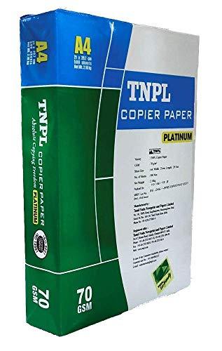 TNPL 70 GSM -A4 Size Copier Paper for Printer (White) -500 Sheets Brand: SHIVA