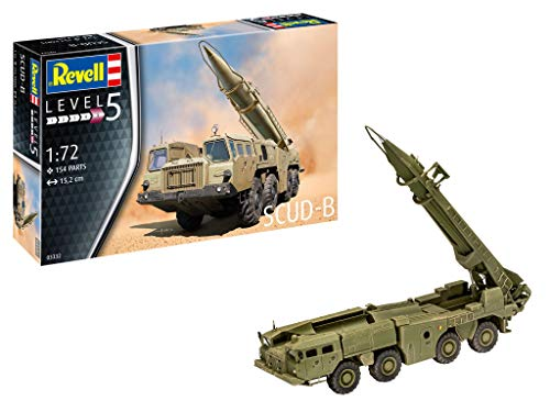 Revell 03332 Scud-B originalgetreuer Modellbausatz für Experten, unlackiert