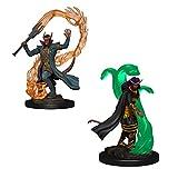 Dungeons & Dragons Nolzur's Marvelous Unpainted Miniatures Bundle: Premium Set Tiefling Male Sorcerer + Premium Set Tiefling Female Sorcerer