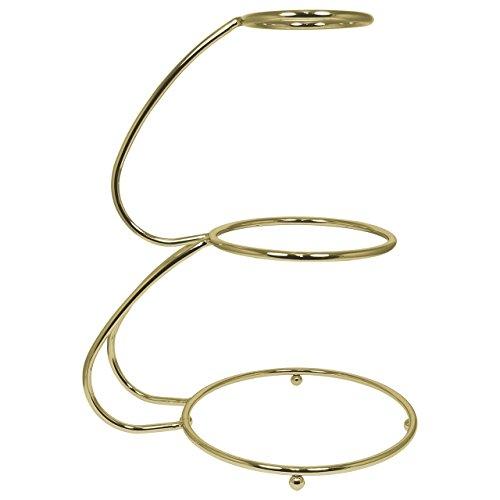 PME ESG583 Présentoir à Gâteaux Doré en Forme de E à 3 Étages, Acier Inoxydable, Gold, 40 x 30 x 50 cm