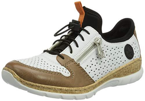 Rieker N42G6, Zapatillas Mujer, Color Beige, 38 EU