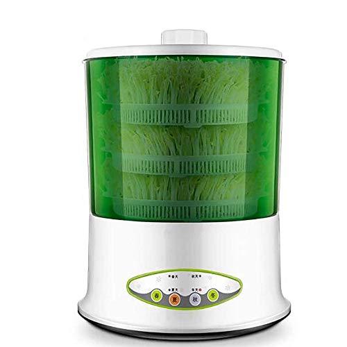 NLNL Blumentöpfe zur Ausbreitung 220 V, LED-Display, Zeitsteuerung, Frijol-Frijol-Maschine für Zuhause mit doppelter Körnung